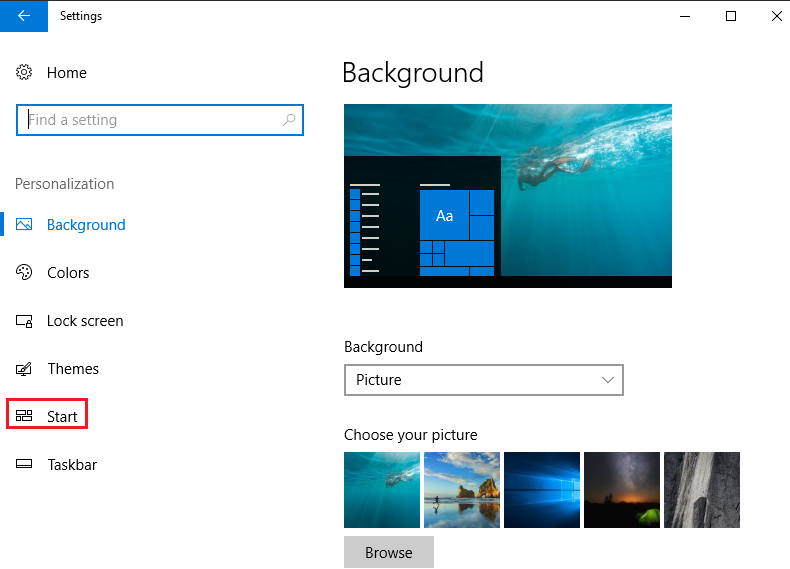 windows 10 start menu all apps