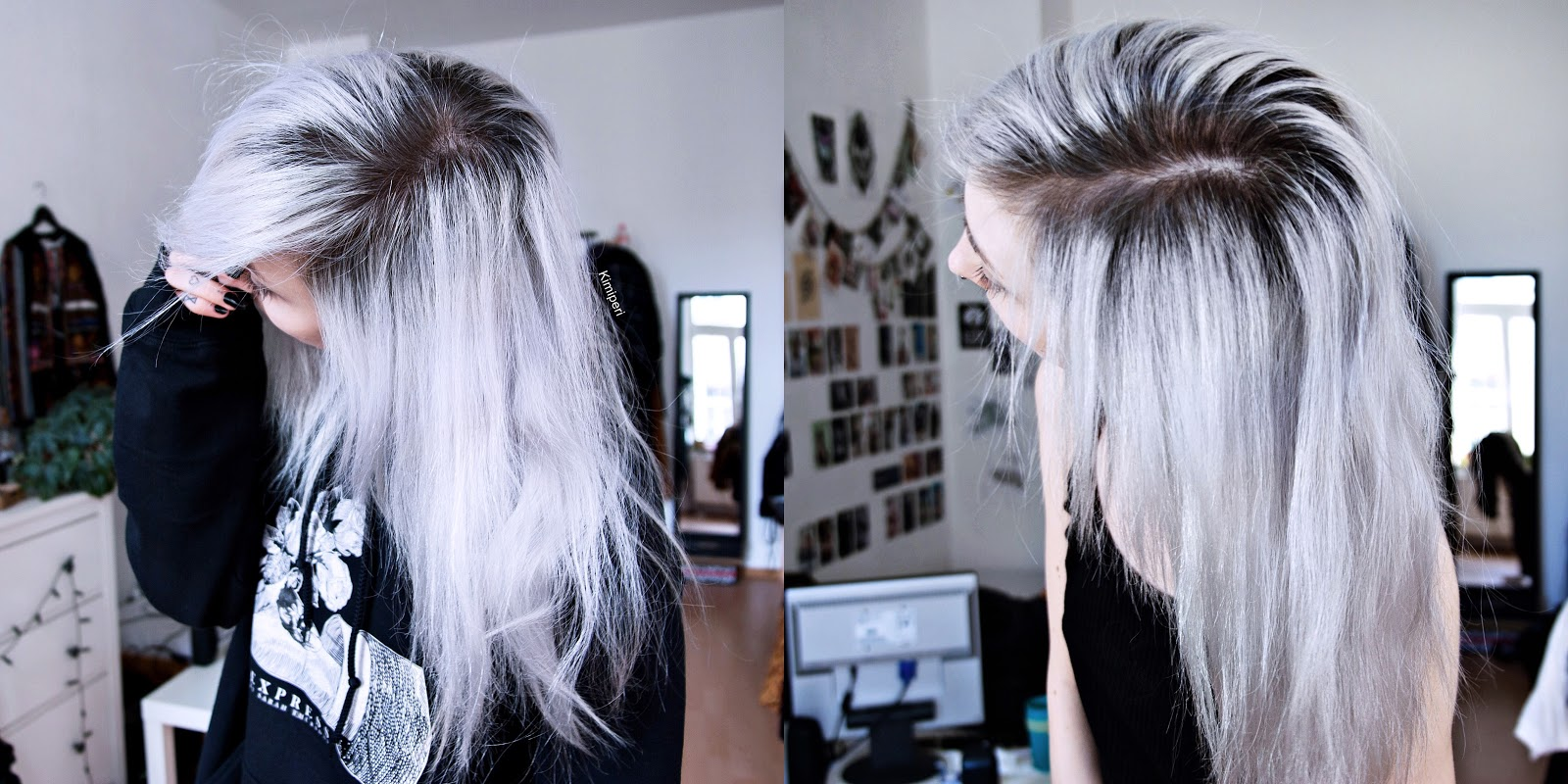 How To Get The Real Silver Hair Maria Nila Black Colour