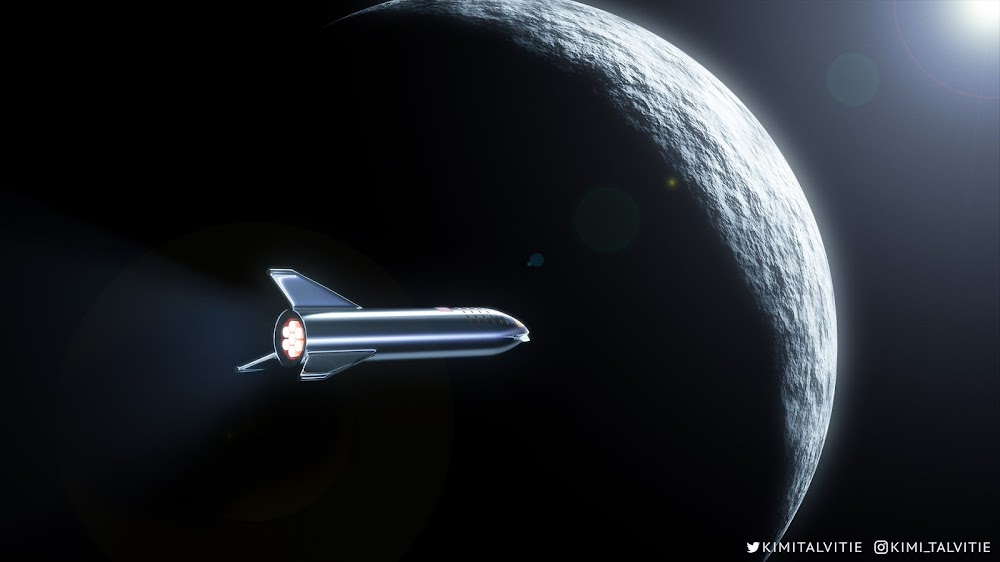 SpaceX #dearMoon Starship arriving to The Moon by Kimi Talvitie