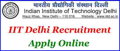 IIT Delhi Recruitment