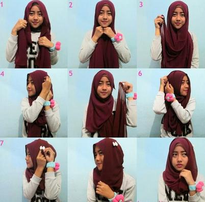 Aneka Cara Memakai Hijab Segi Empat Variasi Terbaru Yang