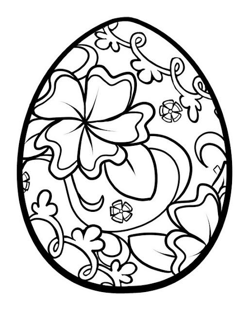 Dessins et coloriages page de coloriage grand format imprimer un oeuf d cor de fleurs - Coloriage grand format ...