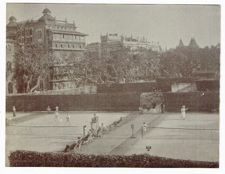 Tennis Court in Bombay (Mumbai) - c1905-10