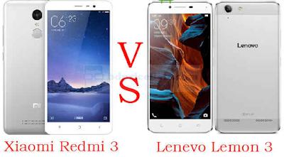 Xiaomi Redmi 3 VS Lenovo Lemon 3 Mobile Full Specifications Compare