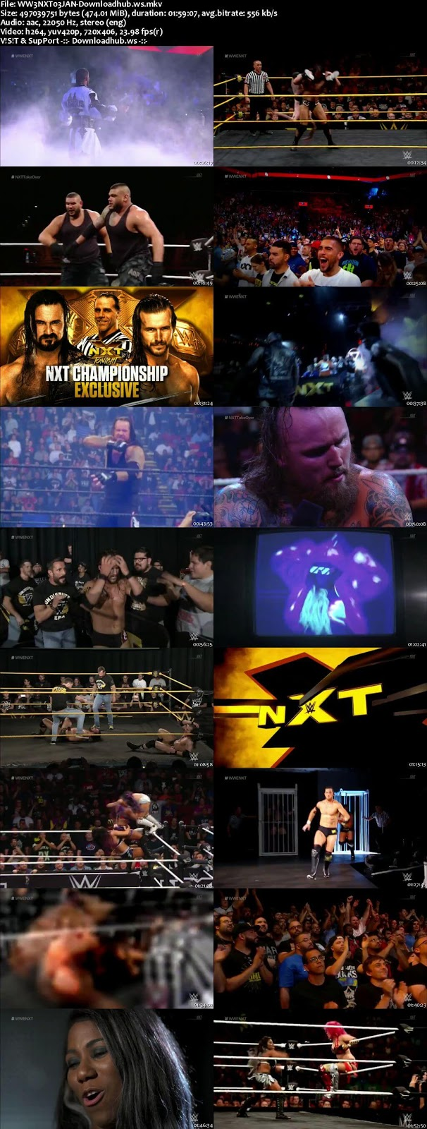 WWE NXT 03 January 2018 480p HDTV Download Hdmoviespoint