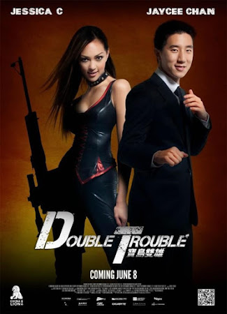 Poster Of Double Trouble In Dual Audio Hindi Chinese 300MB Compressed Small Size Pc Movie Free Download Only At worldfree4u.com
