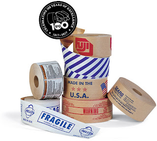 Gummed Tape | Water-Activated Tape - Central Brand Printed Tape