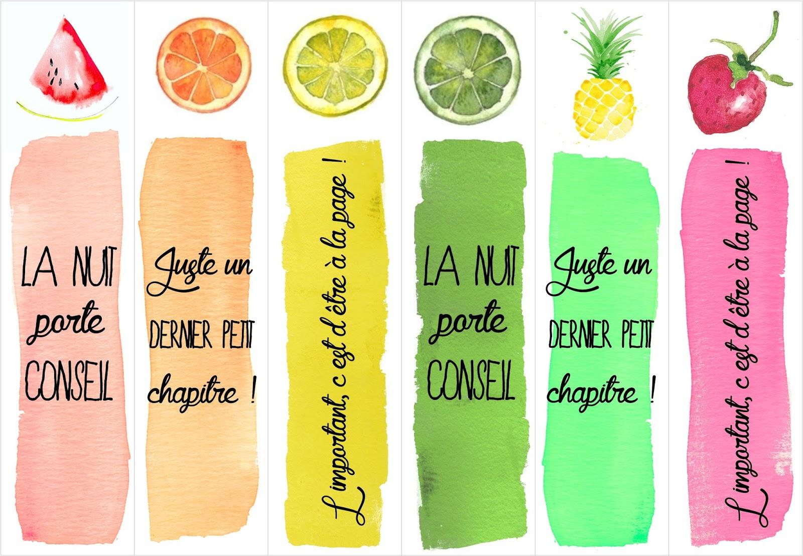 Marque page tutti frutti free printable - Modele marque page ...