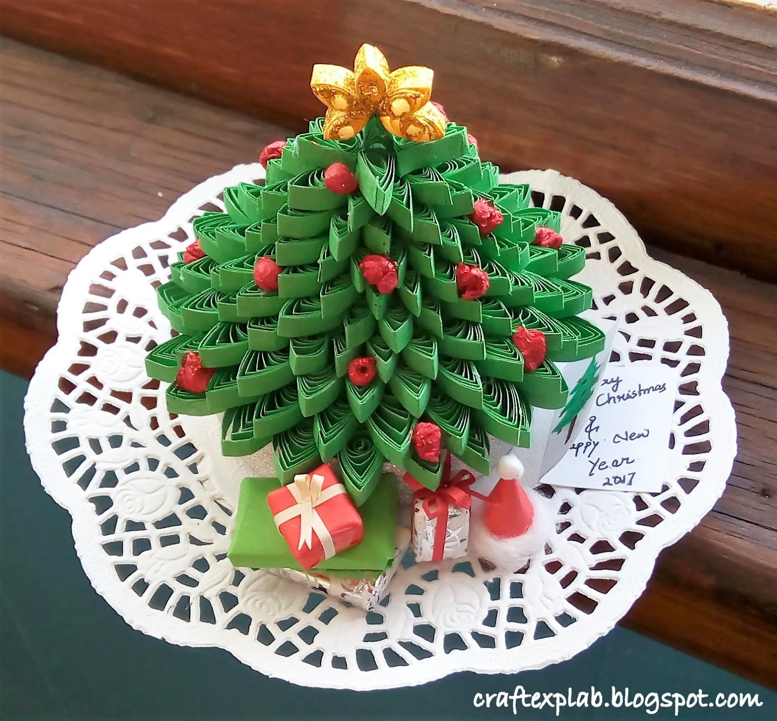 Craft Lab Paper Quilled Christmas Tree