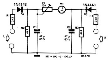 Indicator Balance Stereo Sound Circuit Diagram