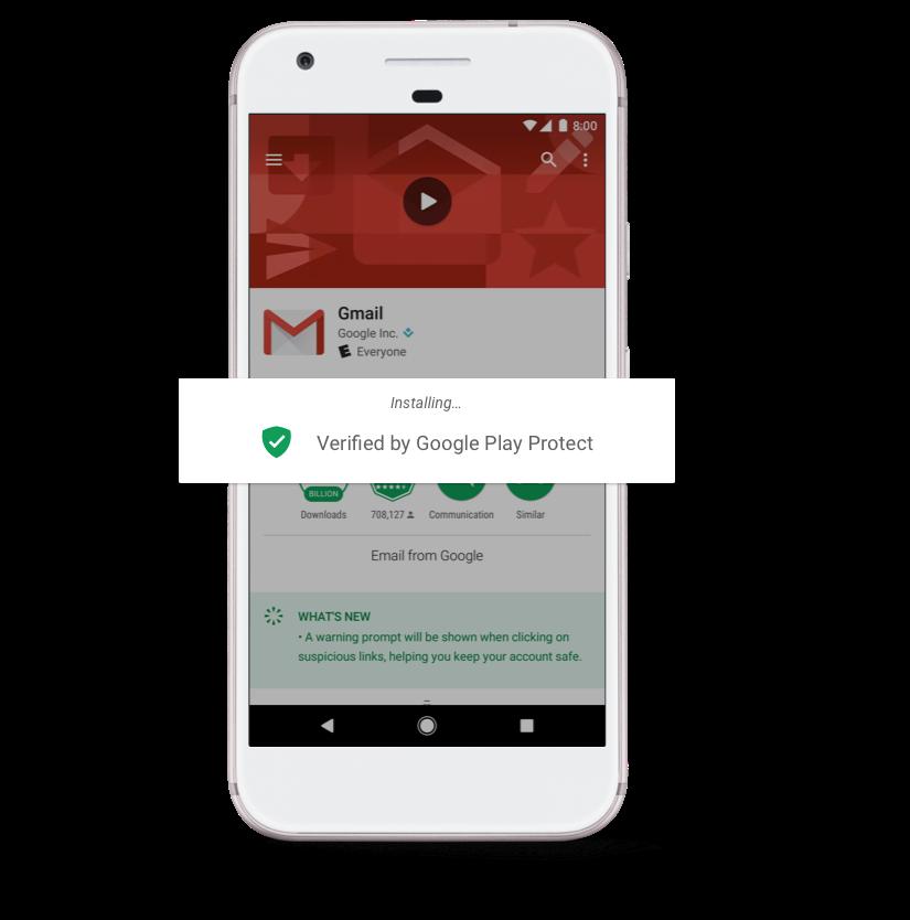 كشفت شركة جوجل عن خدمة Google Play Protect على نظامها الأندرويد