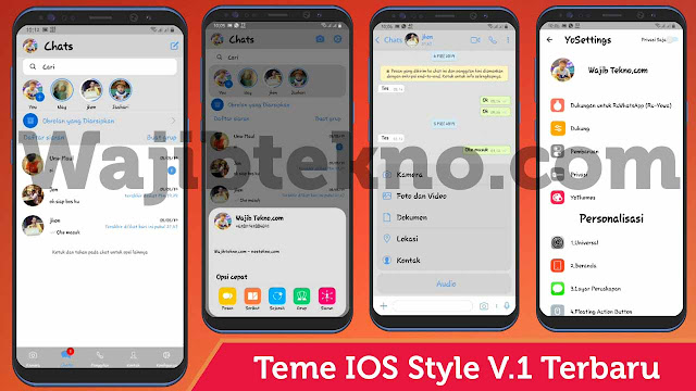 Download Tema Rc Whatsapp Ios Mod White Style (Warna Putih) Paling Keren