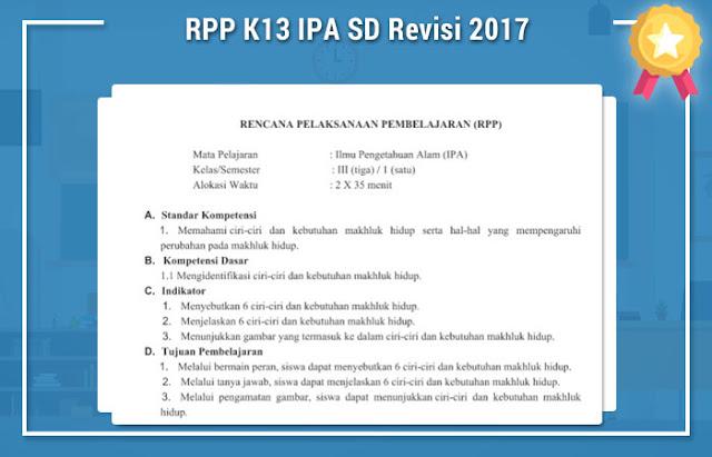 RPP K13 IPA SD Revisi 2017