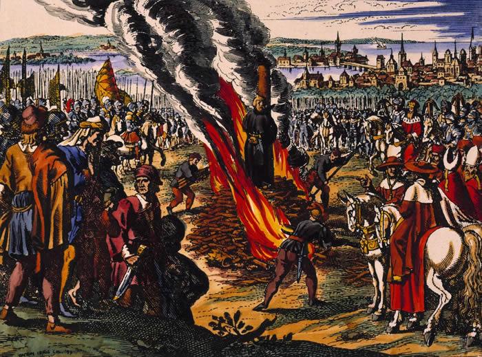 John Huss was burned on July 6, 1415