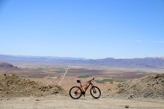 Biking in the deserts of Iran