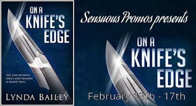On A Knife's Edge by @AuthorLyndaB #Suspense #Action #Romance #BookTour #Amazon #Kindle