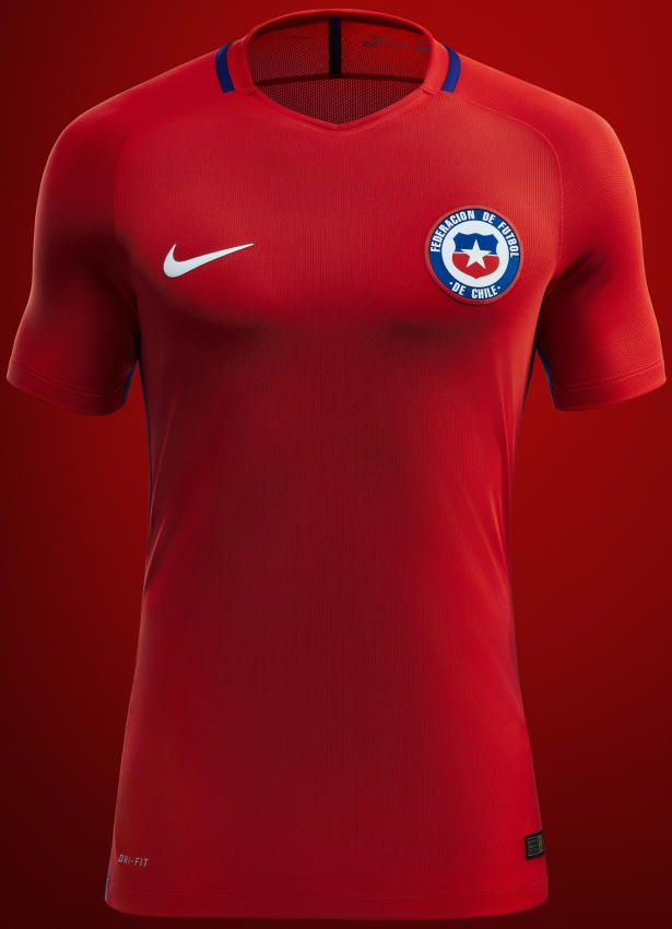 3c460cdeab Nike apresenta as novas camisas do Chile - Show de Camisas
