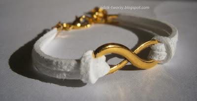 bransoletka ze sznurka nieskończoność