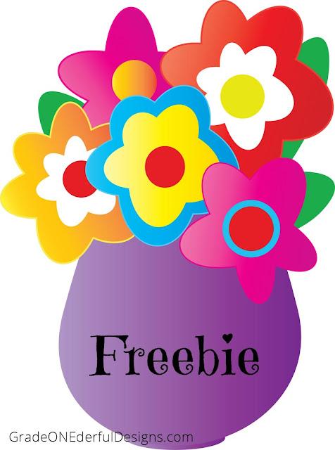 Flowers in a Vase: Clipart Freebie