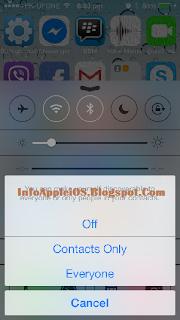 Aktifkan AirDrop OS 7 iPhone