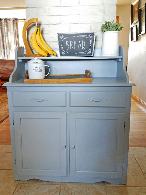 A Simple Cabinet Makeover- Itsy Bits And Pieces