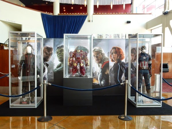 Avengers Age of Ultron movie costume exhibit
