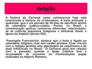 carnaval e religiao