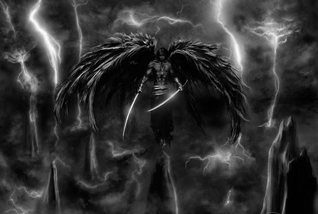 Dark Fallen Angel Warrior