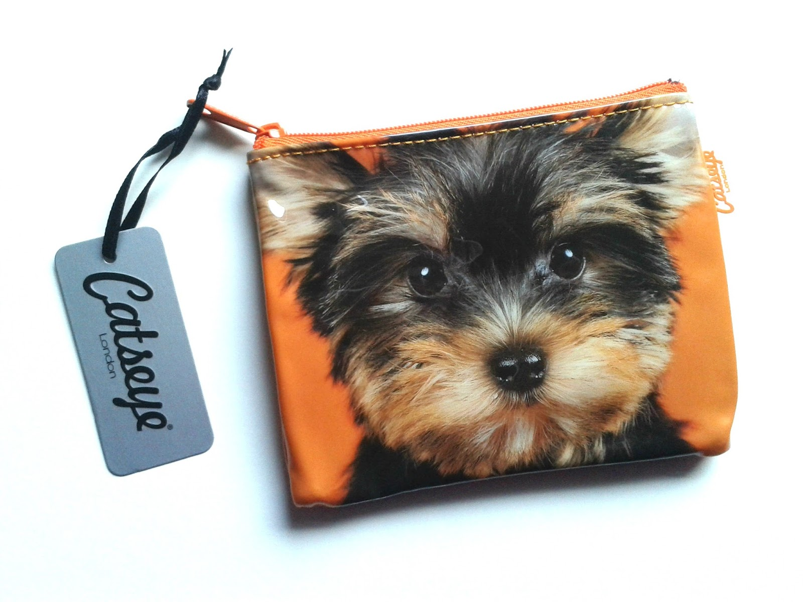 Catseye London Yorkie On Orange Coin Purse