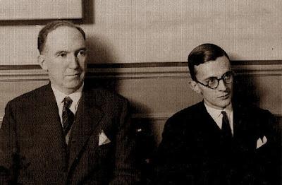 Los ajedrecistas Manuel Golmayo de la Torriente y el Dr. Ramón Rey Ardid