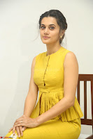 Taapsee Pannu looks mesmerizing in Yellow for her Telugu Movie Anando hma motion poster launch ~  Exclusive 008.JPG