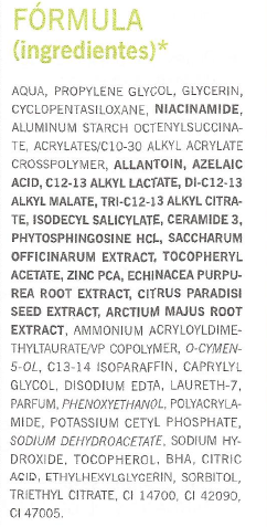 Ingredientes Gel anti-imperfecciones Farmacia Viéitez