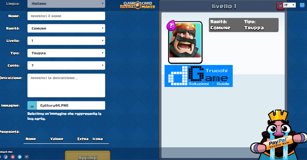 Carte Clash Royale inventate: come crearle da soli