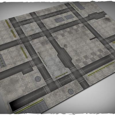 Wargames terrain mat – Cityscape #1