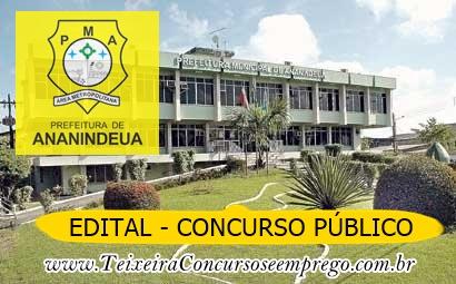 Edital Prefeitura de Ananindeua oferece 500 VAGAS! Inscrições abertas.