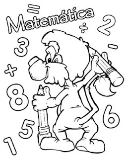 Carátula matemática para pintar