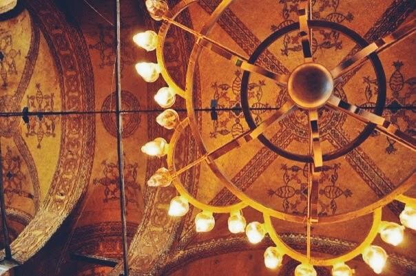 hagia sofia ceiling istanbul turkey