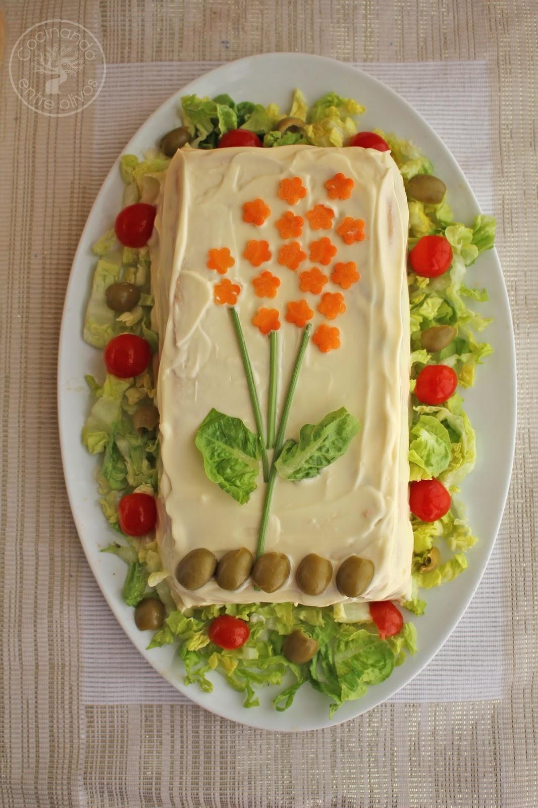 Pastel Frío De Pan De Molde De Atún Y Tomate Receta Paso A Paso Cocinando Entre Olivos