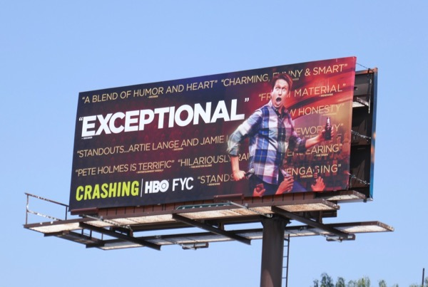 Crashing season 2 Emmy FYC billboard