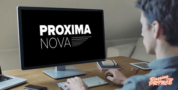 Proxima Nova Google Font
