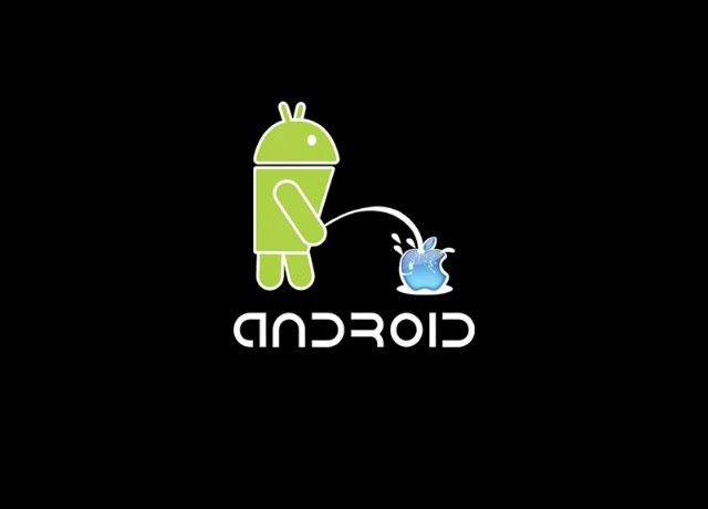 Android logosu Apple a işedi