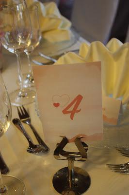 Tischnummern Peach & Pastell, Pfirsich, Rosa und Pastell, Sommerhochzeit im Riessersee Hotel Garmisch-Partenkirchen, Bayern, Wedding in Bavaria, Germany, lake side summer wedding