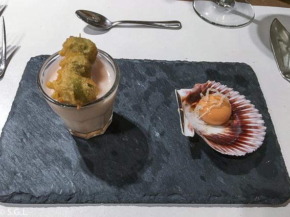 Comer en Bilbao. Restaurante Los Fueros. Aperitivo
