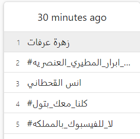 تريند تويتر السعودية