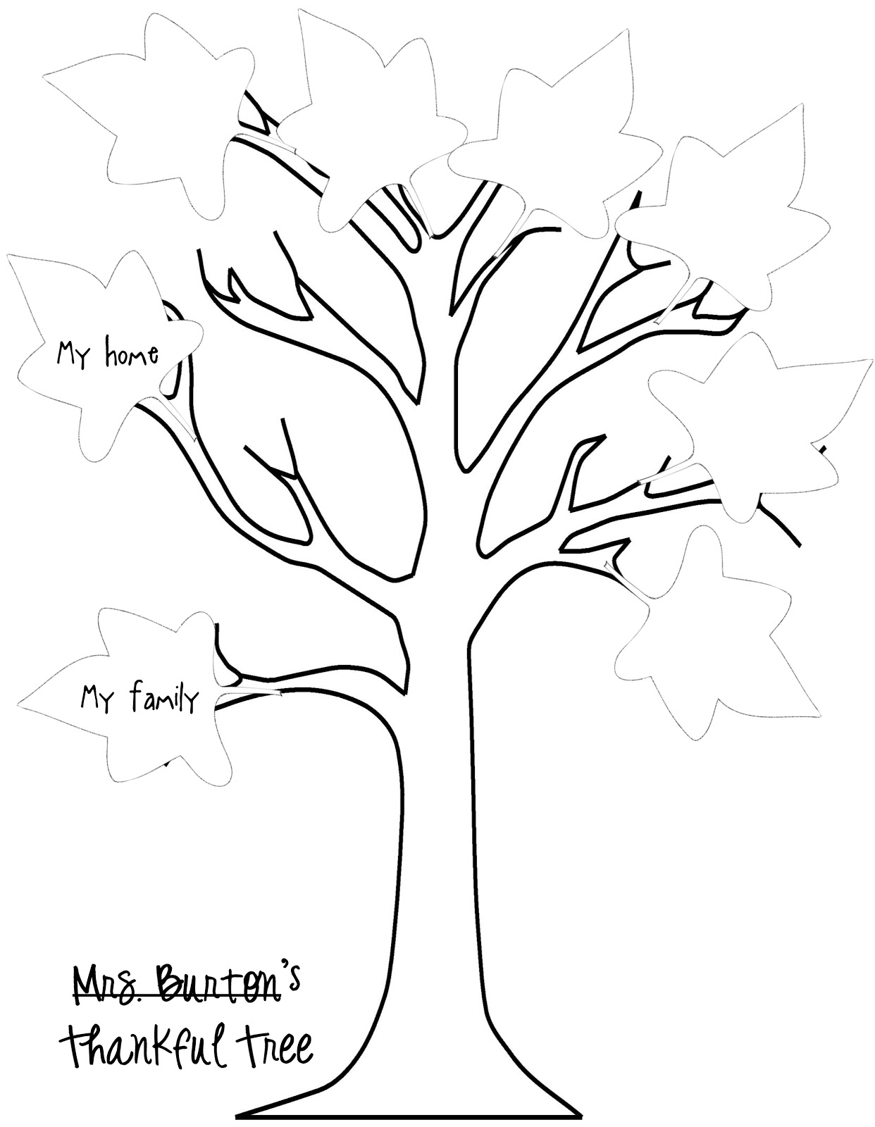 thanksgiving tree coloring pages - photo#2