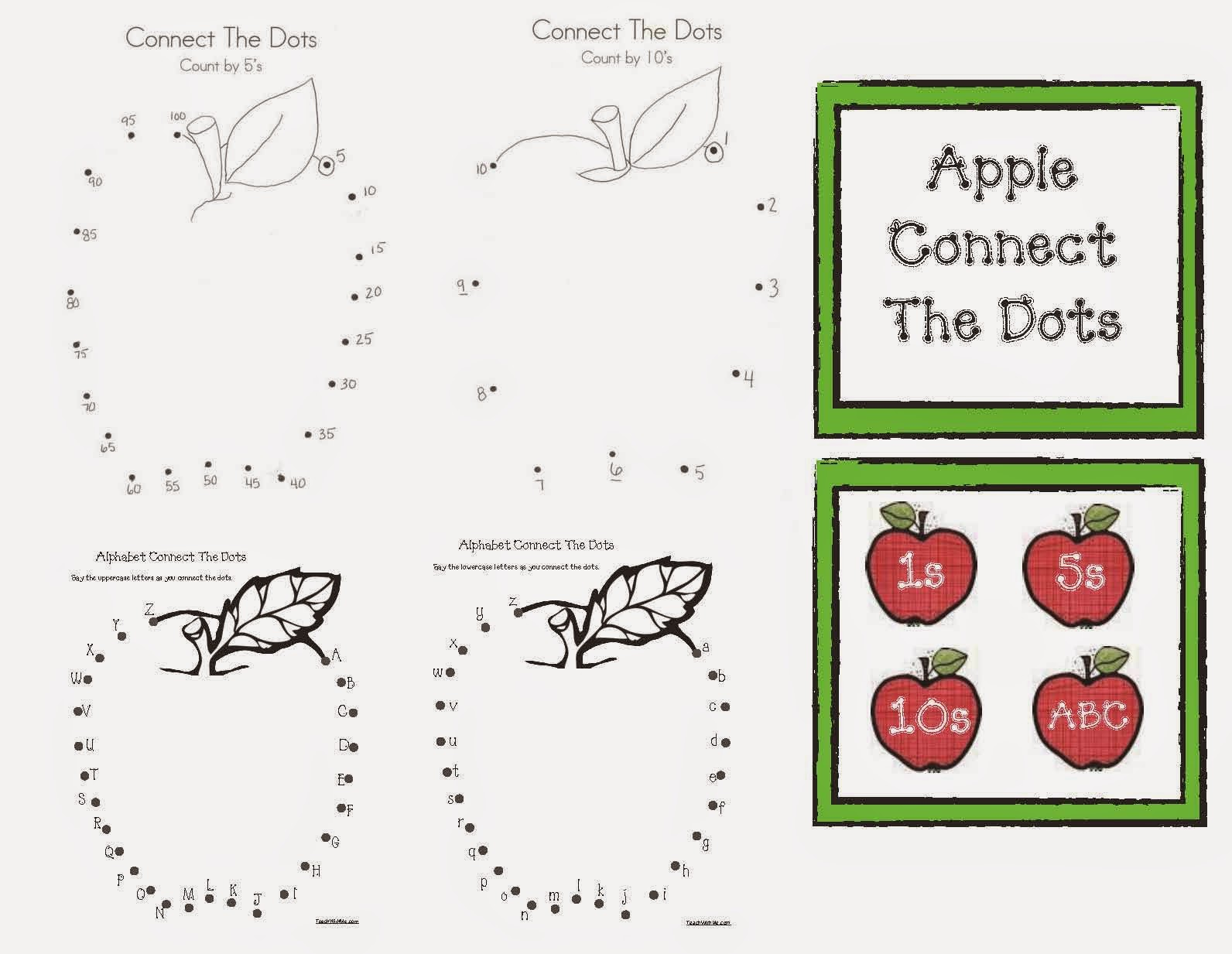 Classroom Freebies Connect The Dot Apples