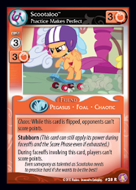 My Little Pony Scootaloo, Practice Makes Perfect Absolute Discord CCG Card