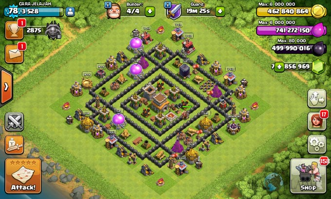 Susunan Formasi Base War TH 8 Update Terbaru 21