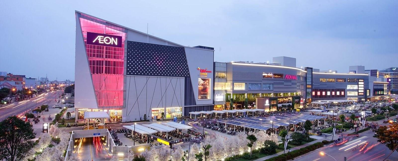 Aeon Mall Long Biên rất gần Sunrise Garden.