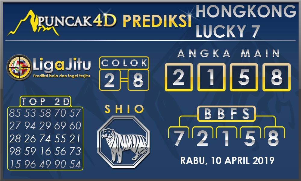 PREDIKSI TOGEL HONGKONG LUCKY7 PUNCAK4D 10 APRIL 2019